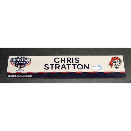 Photo of 2019 Little League Classic - Game Used Locker Tag - Chris Stratton,  Chicago Cubs at Pittsburgh Pirates - 8/18/2019