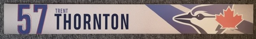 Photo of Authenticated Game Used Locker Name Plate: #57 Trent Thornton (2019 Regular Season). Rookie Season.