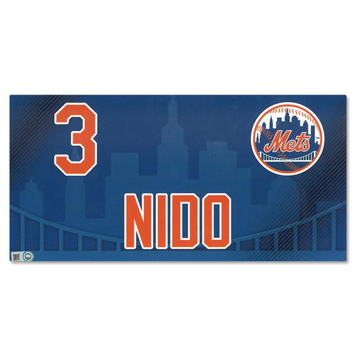 Photo of Tomas Nido #3 - 2019 Game Used Locker Nameplate - Mets vs. Nationals - 4/4/19
