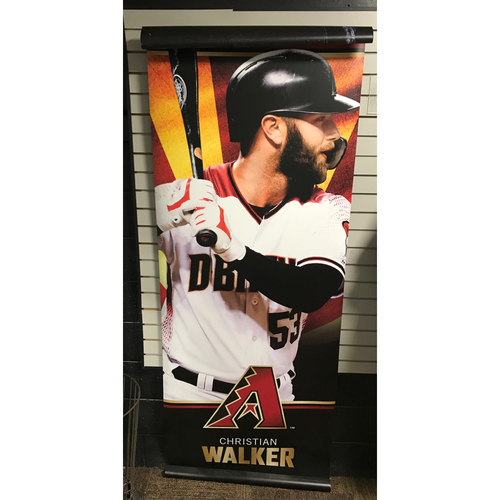 Photo of Christian Walker 2019 93 x 32 Street Banner - NOT MLB Authenticated - Dbacks Certificate of Authenticity Included