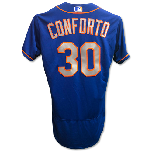 Photo of Michael Conforto #30 - Team Issued Blue Alt. Road Jersey - 2019 Season