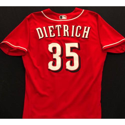 Derek Dietrich -- 2020 Spring Training Jersey -- Team-Issued -- Size 44