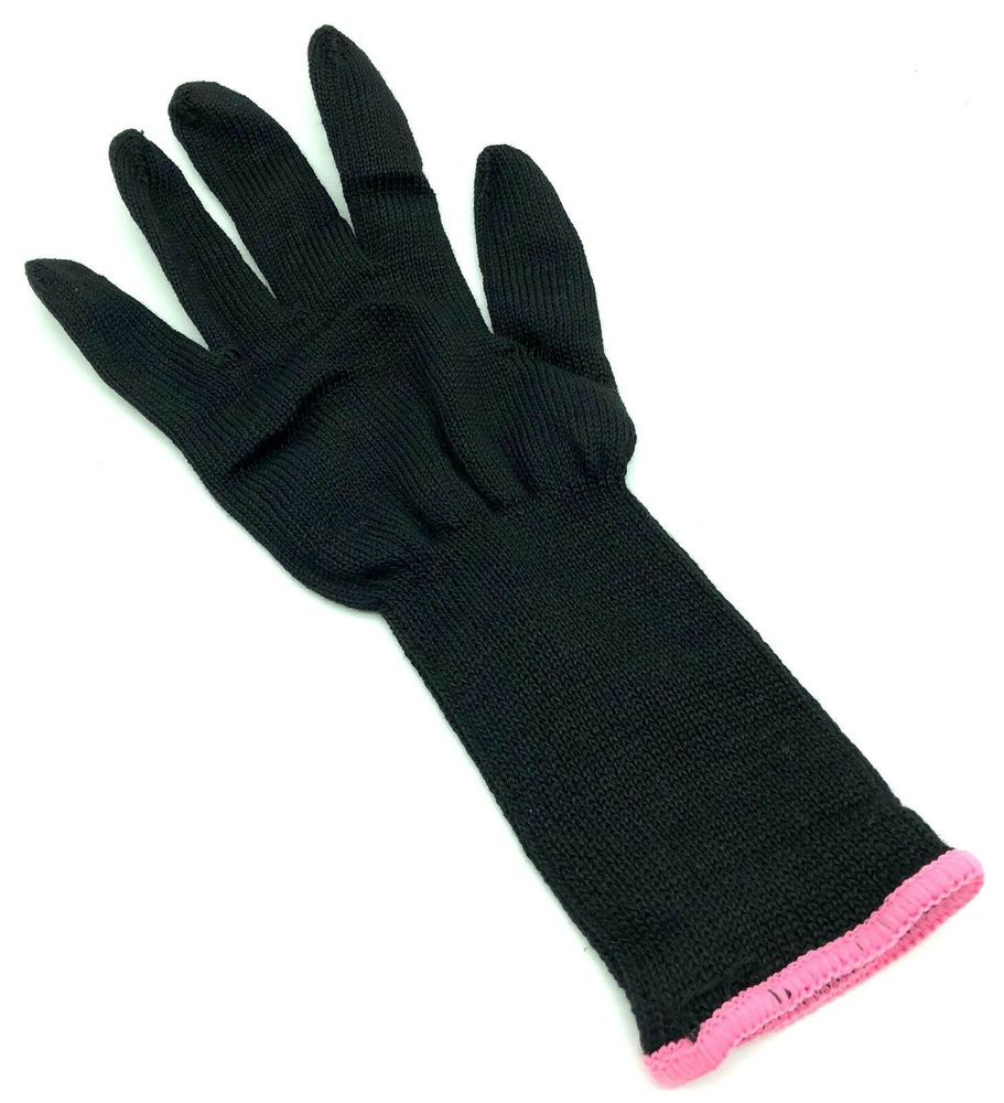 """Photo of Lorion 1"""" Clipless Black Curling Iron W Heat Resistant Glove"""