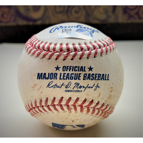Photo of Game-Used Baseball:  Francisco Lindor Cleveland Indians Double (MLB AUTHENTICATED)