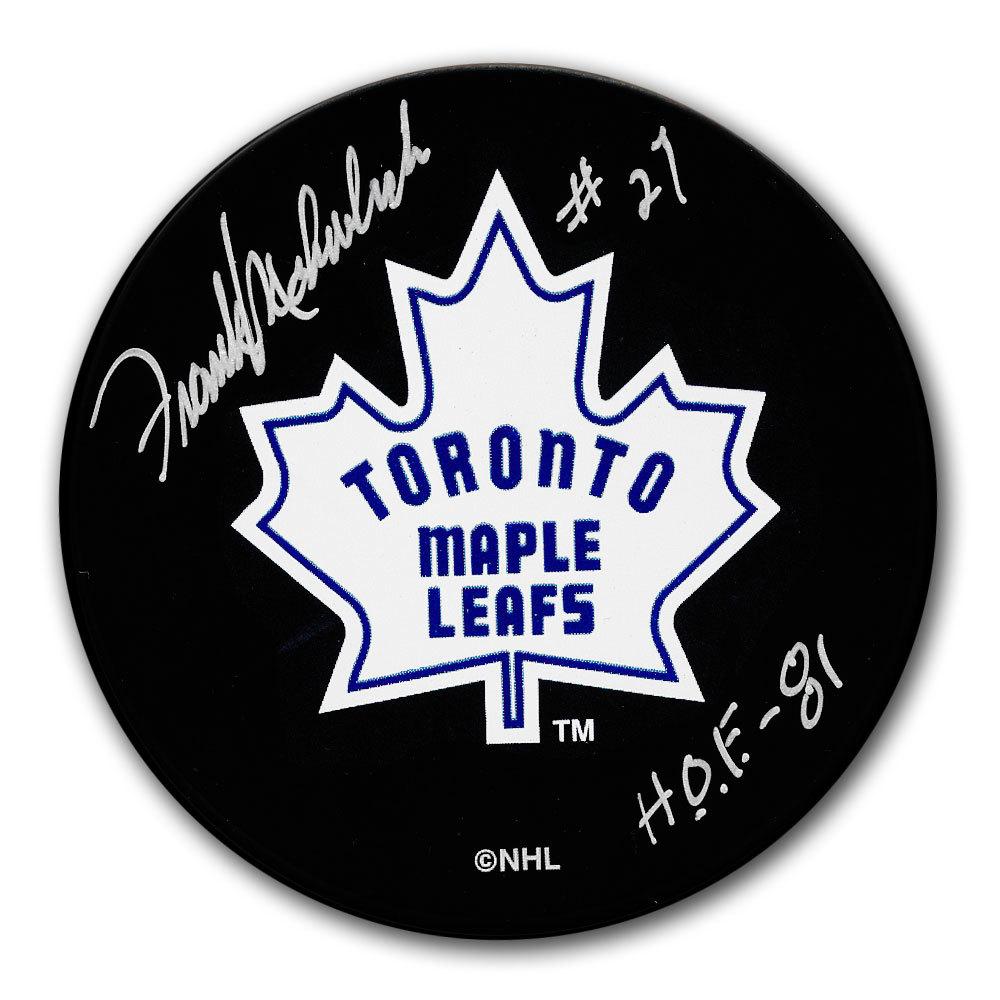 Frank Mahovlich Toronto Maple Leafs HOF Autographed Puck