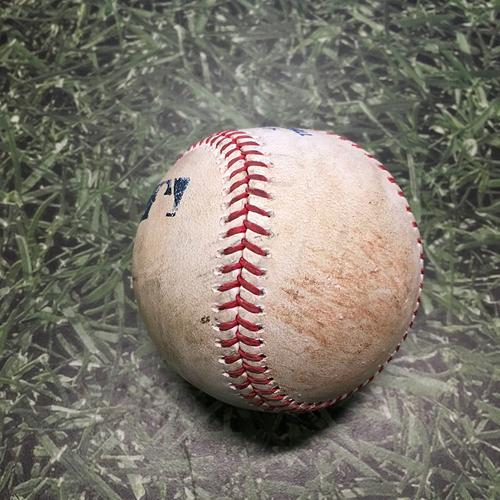 Photo of Game-Used Baseball ATL@MIL 05/16/21 - Huascar Ynoa - Omar Narvaez (Single) & Lorenzo Cain (Single)