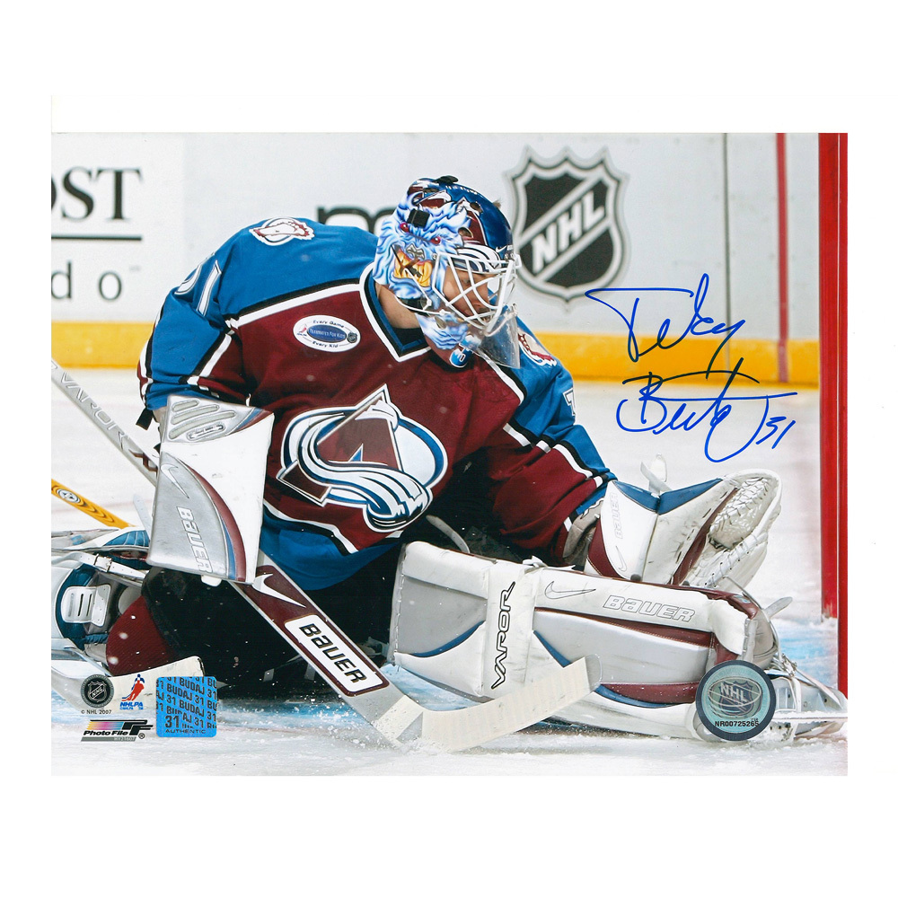 PETER BUDAJ Signed Colorado Avalanche 8 X 10 Photo - 70225
