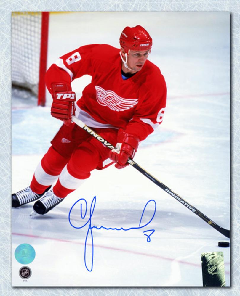 Igor Larionov Detroit Red Wings Autographed Hockey Professor 8x10 Photo
