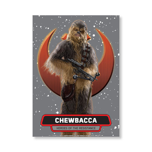 Chewbacca 2016 Star Wars The Force Awakens Chrome Metal Poster - # to 99