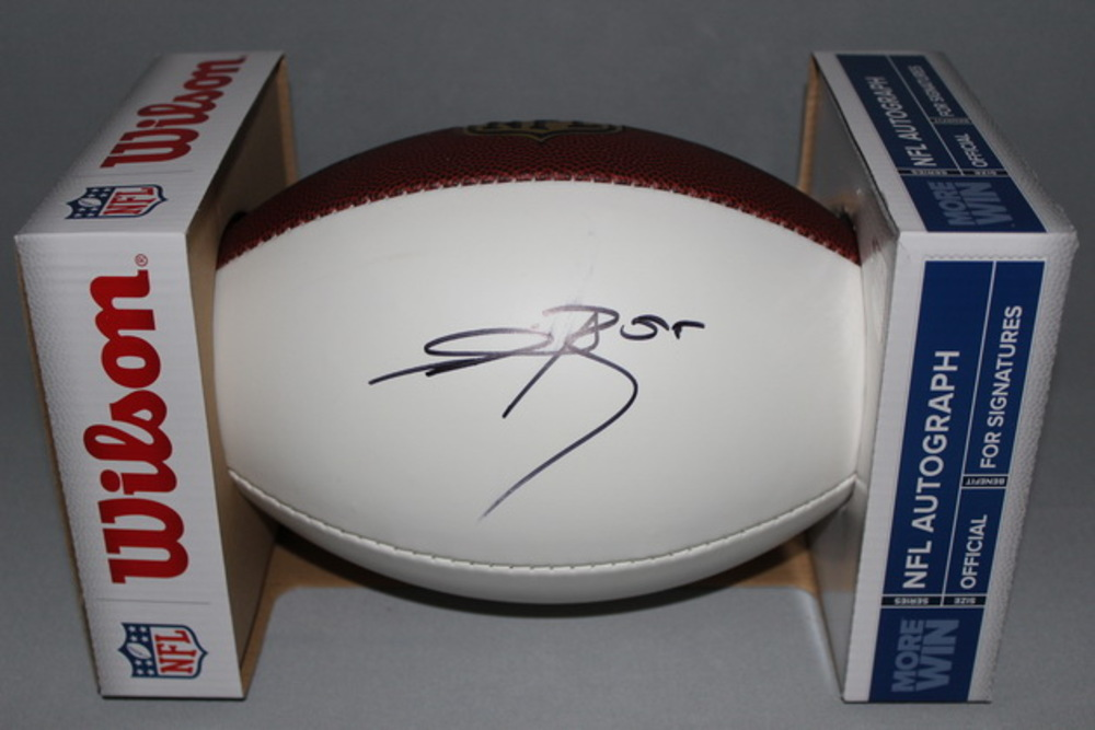 NFL - VIKINGS ANTHONY BARR SIGNED PANEL BALL