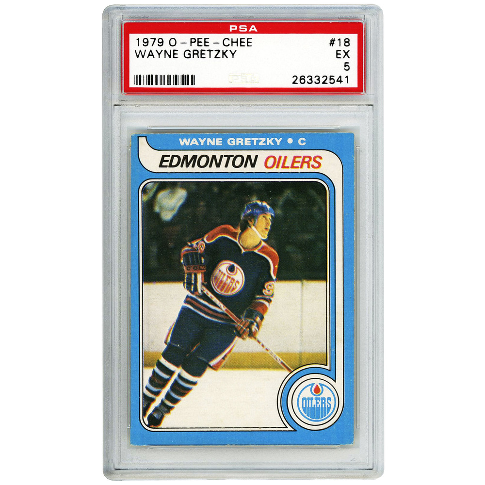 Wayne Gretzky Edmonton Oilers 1979-80 O Pee Chee Rookie #18 Card PSA 5 EX