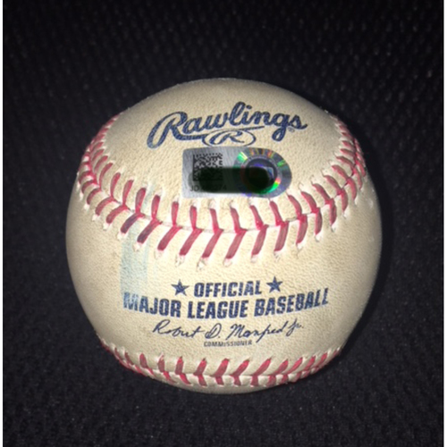 Game-Used Baseball from September 9, 2017: Jose Abreu Bats the Cycle
