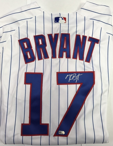 Photo of Kris Bryant Autographed Authentic Cubs Jersey