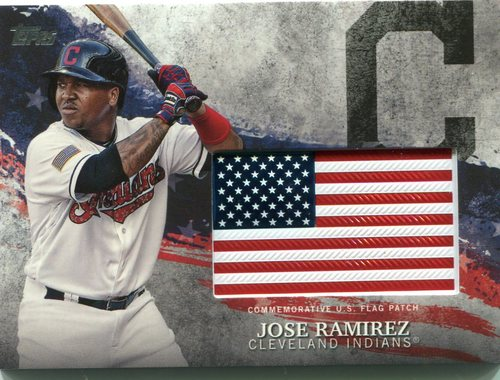 Photo of 2018 Topps Independence Day U.S. Flag Relics #IDMLJRA Jose Ramirez