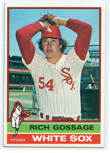 Photo of 1976 Topps #180 Goose Gossage -- Hall of Fame Class of 2008