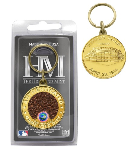 Photo of Wrigley Field Cubs Game-Used Dirt Coin Keychain