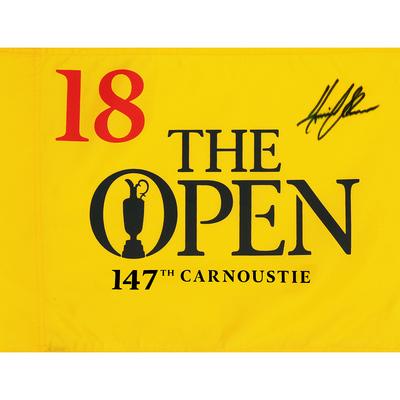 Photo of Henrik Stenson, The 147th Open Carnoustie Autographed Souvenir Pin Flag