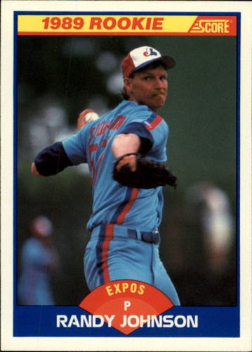 Photo of 1989 Score #645 Randy Johnson RC