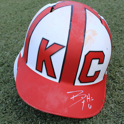 Salute to the Negro Leagues Autographed & Game-Used Helmet: Billy Hamilton 658th and 659th Career Hits (Size 7 1/8 - MIN at KC - 6/23/19)