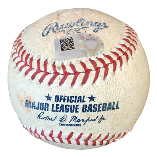 Photo of Nicky Delmonico Single - Game Used Ball From Joe Mauer's Final Career Game