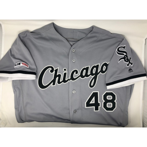 Photo of Alex Colome 2019 Game-Used Grey Road Jersey - Size 46