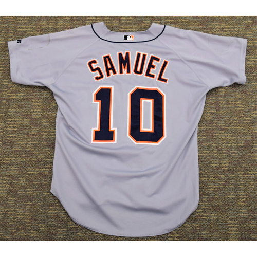 Photo of Juan Samuel Clubhouse Issued Detroit Tigers #10 Road Jersey (NOT MLB AUTHENTICATED)