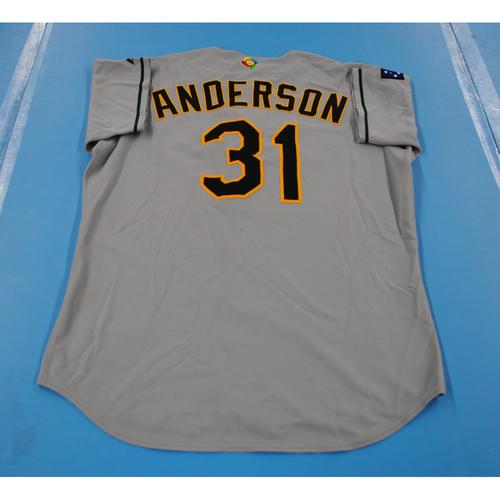 Photo of 2006 Inaugural World Baseball Classic: Craig Anderson Game-worn Team Australia Road Jersey