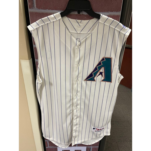 Photo of 2019 David Peralta Team-Issued Sleeveless Vest Throwback Jersey (Size 46T)