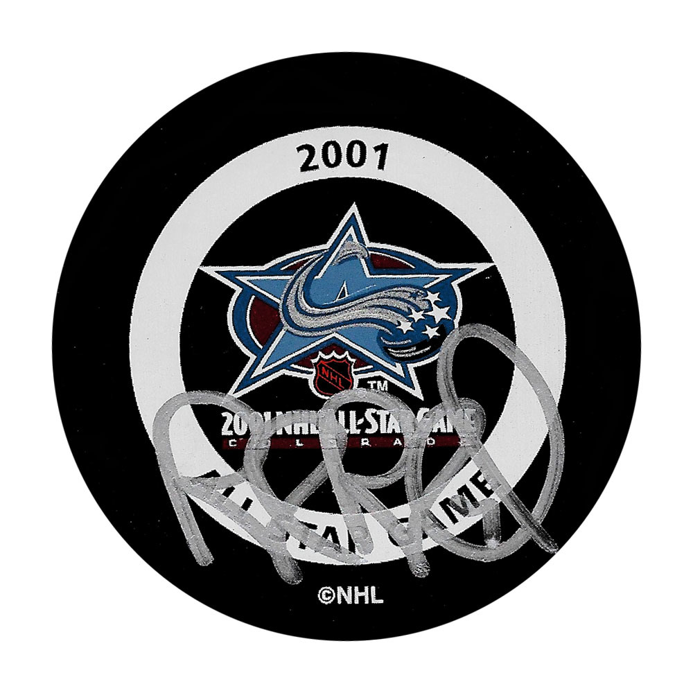 Rob Blake Autographed 2001 NHL All-Star Game Puck