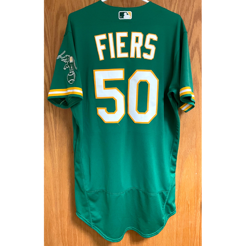 Photo of Mike Fiers Game-Used 2020 Jersey