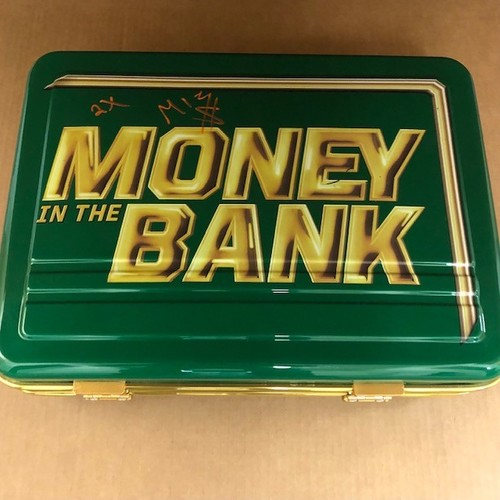 Photo of The Miz SIGNED Money In The Bank Replica Briefcase.