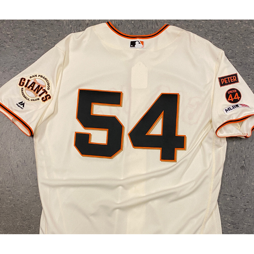Photo of 2019 Game Used Home Cream Jersey worn by #54 Reyes Moronta on 4/5 vs. TB - Home Opening Day - Size 50