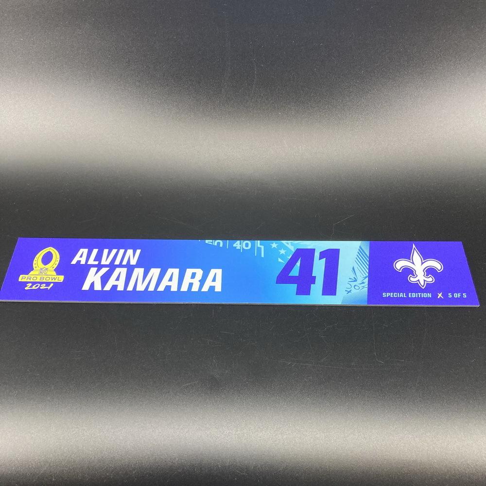 NFL - Saints Alvin Kamara 2021 Pro Bowl Locker Nameplate Special Edition #5 of 5