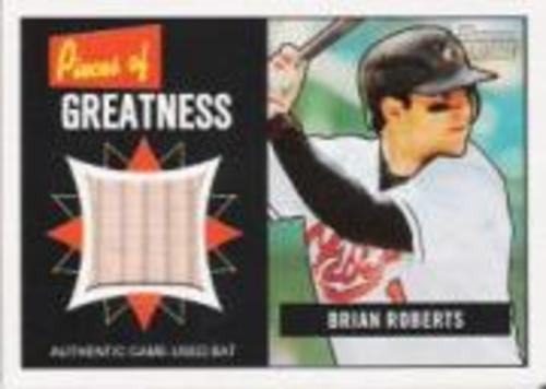 Photo of 2005 Bowman Heritage Pieces of Greatness Relics #BR Brian Roberts Bat B