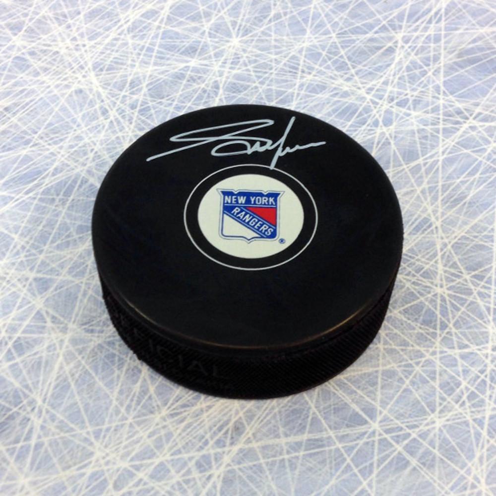 Adam Graves New York Rangers Autographed Hockey Puck
