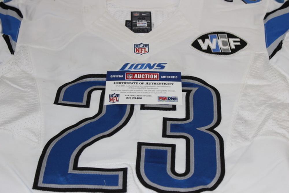 hot sale online 2c5eb 99d3e NFL Auction | STS - LIONS DARIUS SLAY GAME WORN LIONS JERSEY ...
