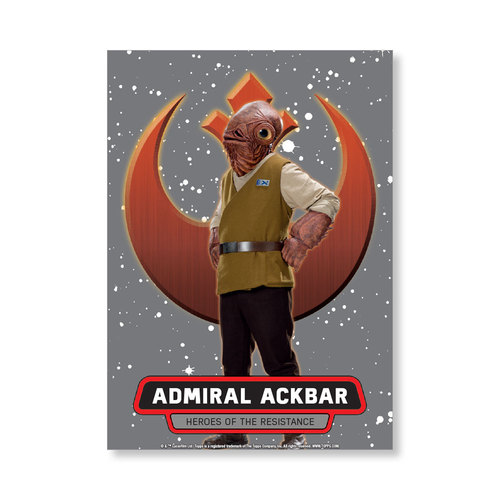 Admiral Ackbar 2016 Star Wars The Force Awakens Chrome Metal Poster - # to 99