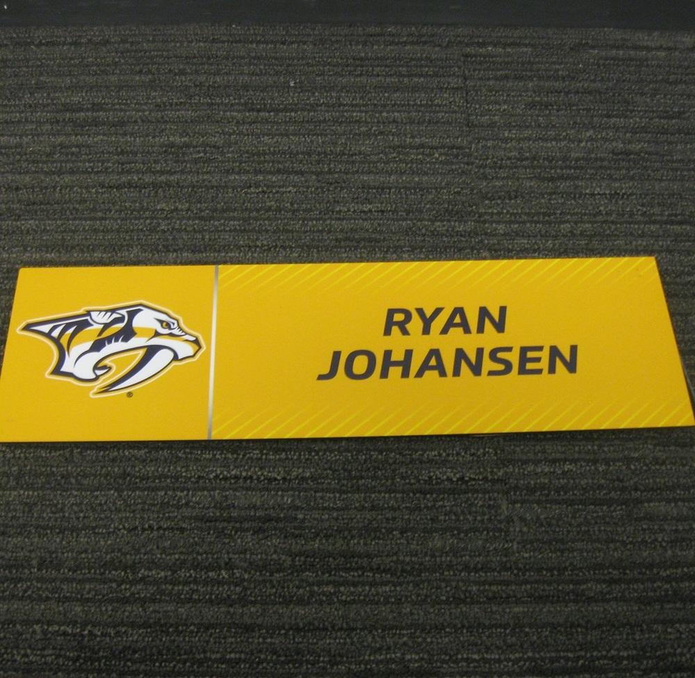 Ryan Johansen 2017 Stanley Cup Final Media Name Plate - Nashville Predators