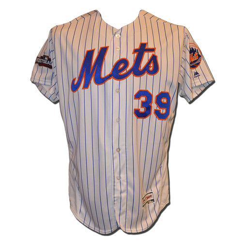 Photo of Jerry Blevins #39 - Team Issued 2016 Postseason White Pinstripe Jersey - 2016 Season