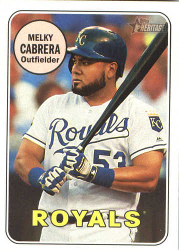 Photo of 2018 Topps Heritage #370 Melky Cabrera