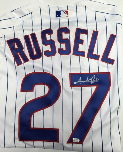 Addison Russell Autographed Authentic Cubs Jersey