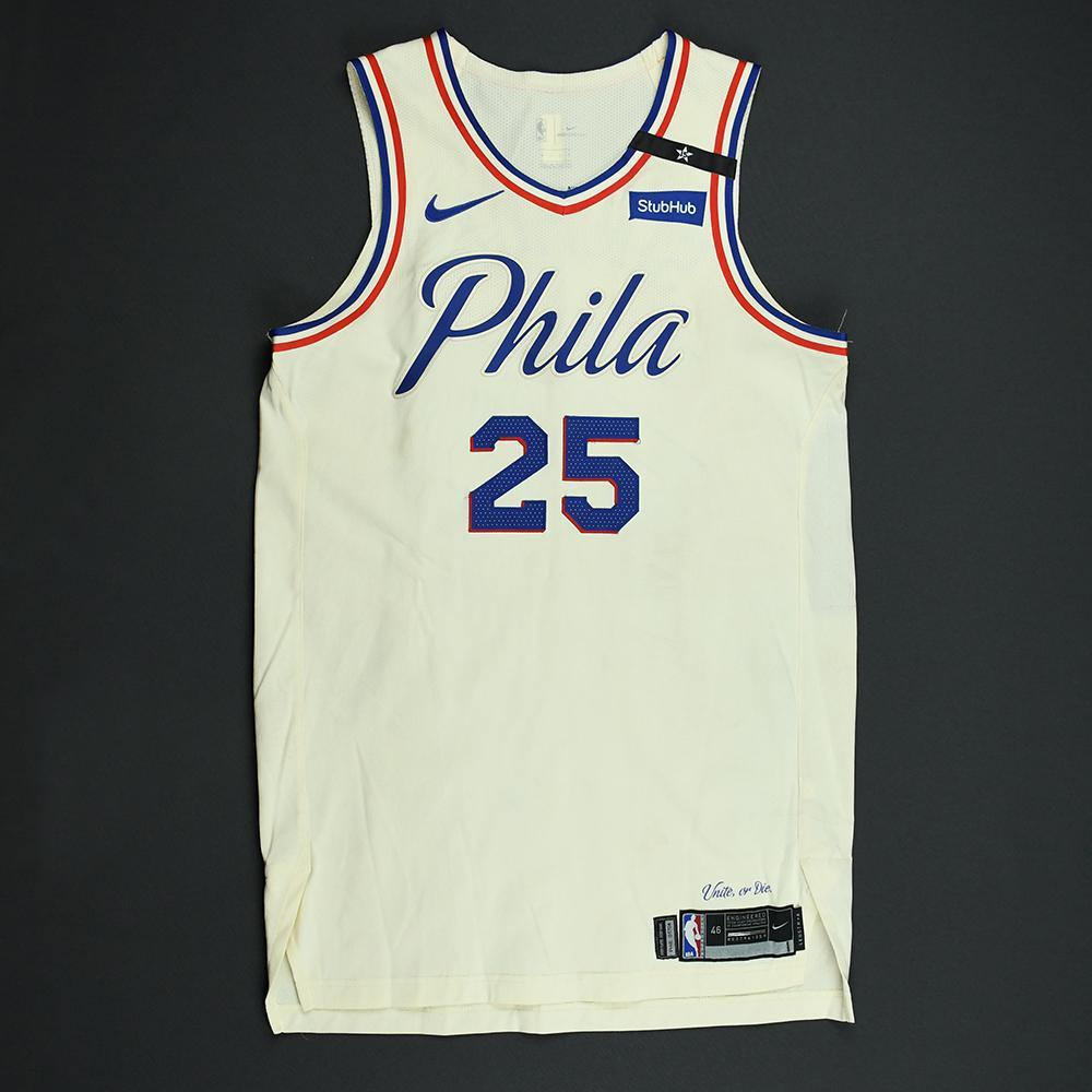 sale retailer e7c58 95848 Ben Simmons - Philadelphia 76ers - 2018 NBA Playoffs Game ...