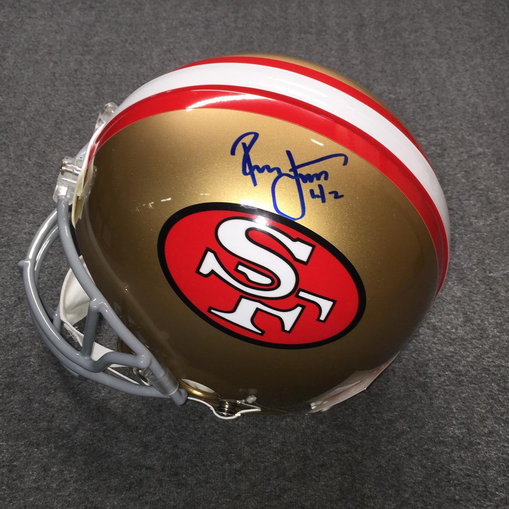 hot sale online 1badb b6ac6 NFL Auction | HOF - 49ers Ronnie Lott signed 49ers proline ...