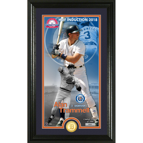 Photo of Alan Trammell Class of 2018 Supreme Bronze Coin Photo Mint