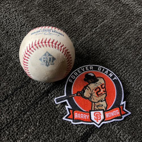 Photo of 2018 San Francisco Giants - Game Used Baseball - #25 Number Retirement Game - August 11, 2018 vs. Pittsburgh Pirates - B-5 Trevor Williams to Steven Duggar - Foul Ball (includes a FREE Commemorative #25 Retirement Patch)