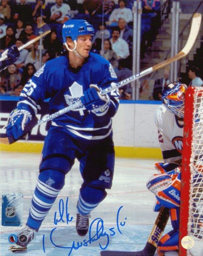 Mike Krushelnyski Signed 8x10 Unframed Leafs vs NYI