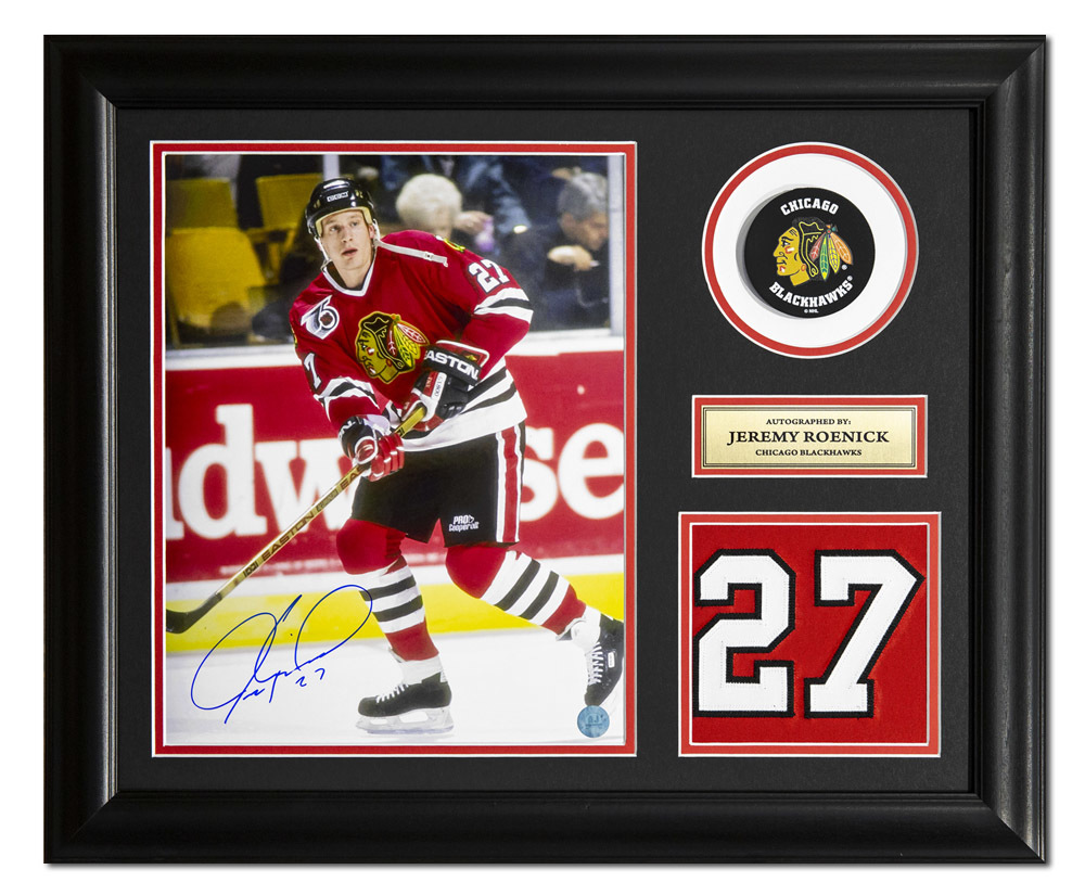 Jeremy Roenick Chicago Blackhawks Autographed Jersey Number 23x19 Frame