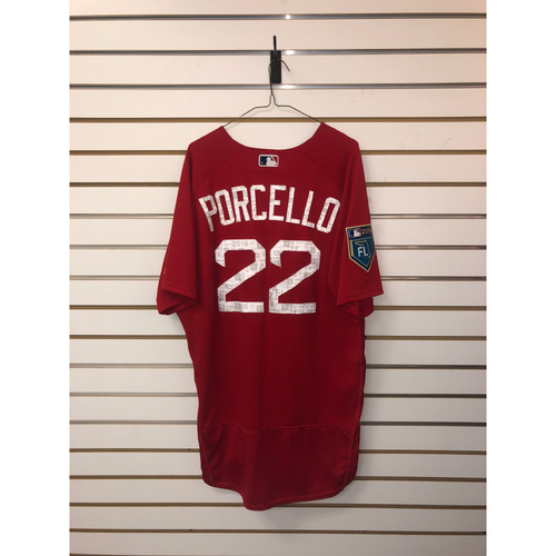 Rick Porcello Team-Issued 2018 Spring Training Jersey
