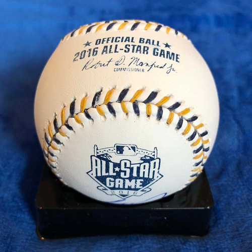 UMPS CARE AUCTION: 2016 All-Star Game Baseball Signed Eric Hosmer
