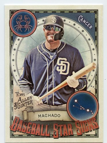 Photo of 2019 Topps Allen and Ginter Baseball Star Signs #BSS50 Manny Machado
